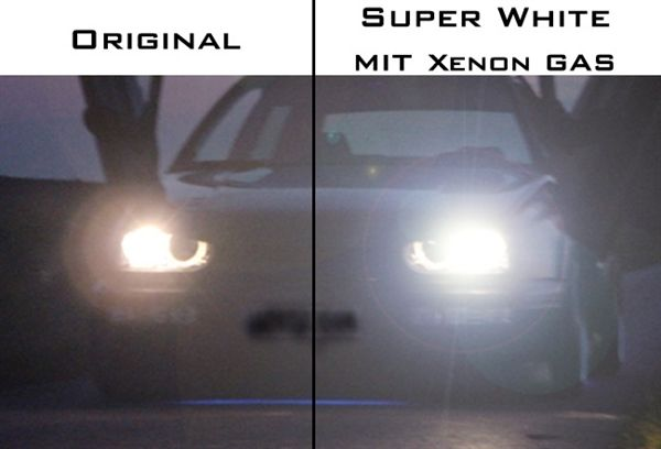 H4 60/55W 12V Glühbirnen Xenon-Optik Super White