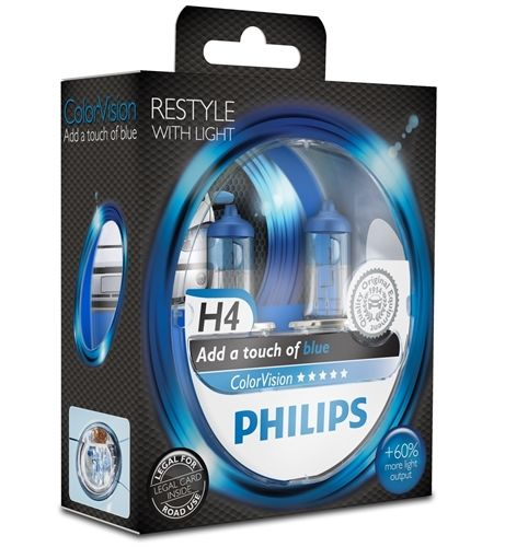 Philips H4 ColorVision Blau 12V 60/55W